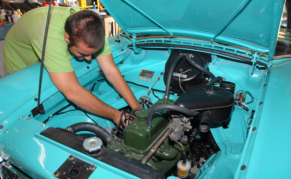 Students works in auto program