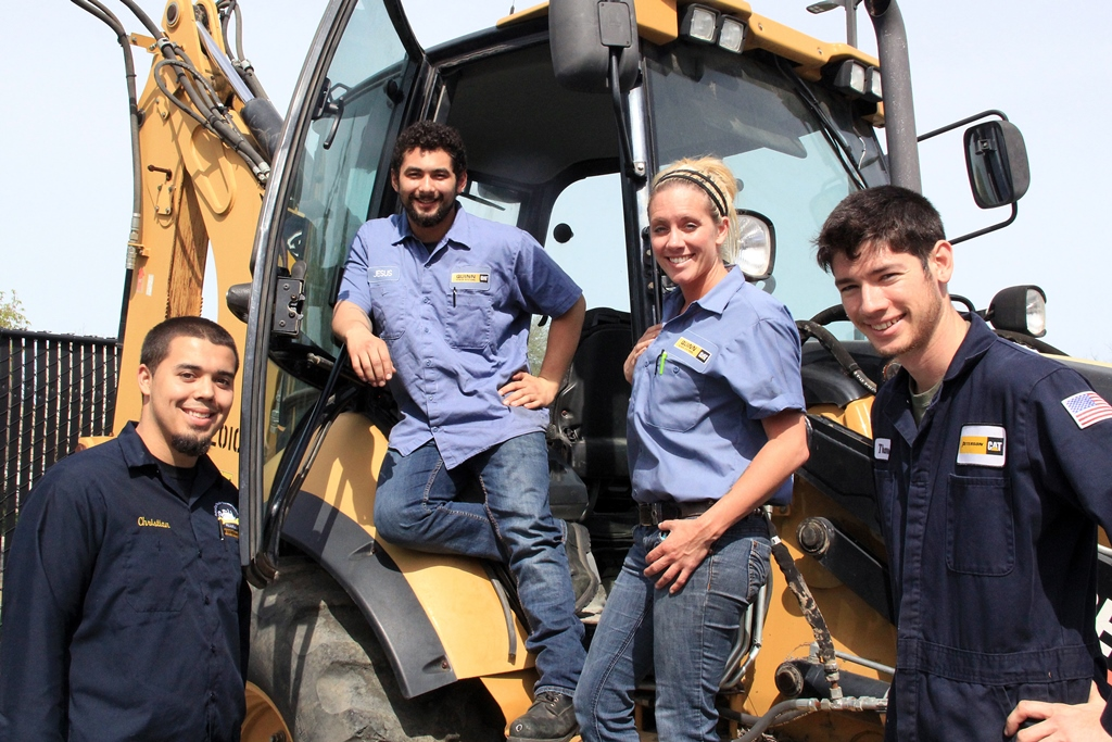 San Joaquin Delta College Caterpillar students saw a 254 percent increse in wages within one year of finishing school.