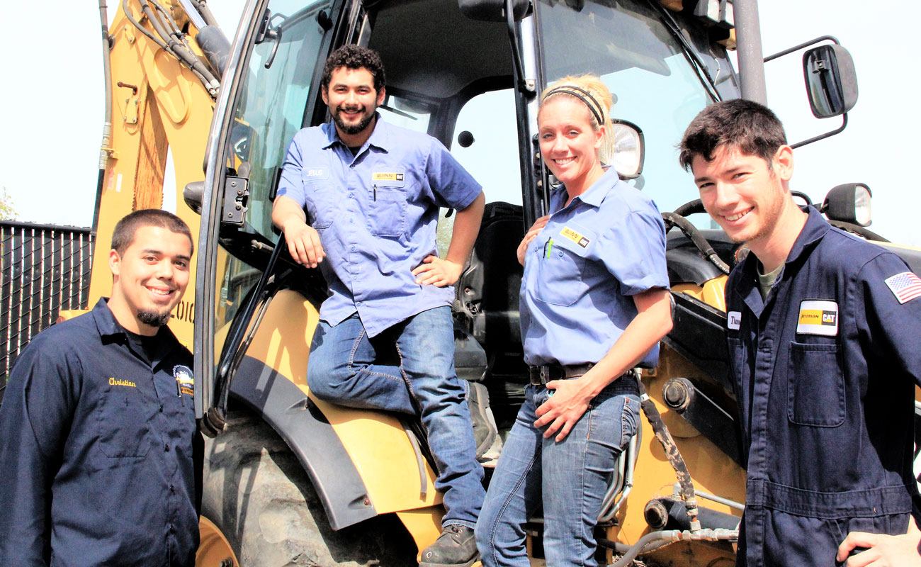 CAT Heavy Equipment Students