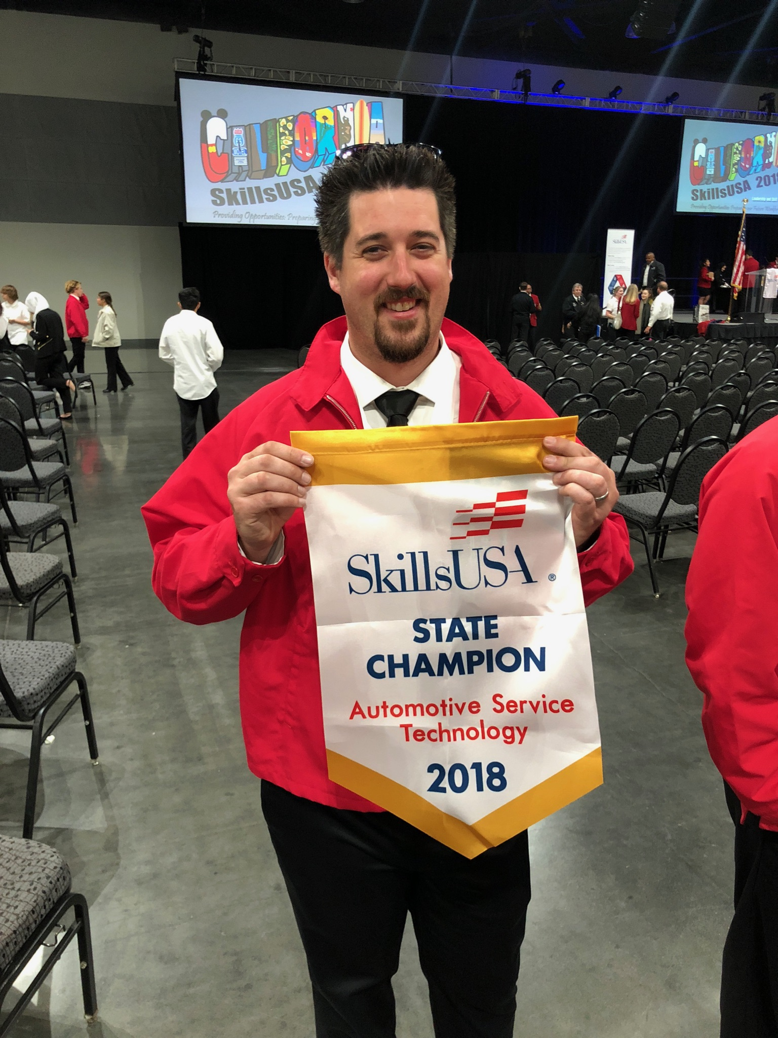 Shane Gallagher of San Joaquin Delta College took gold at the state SkillsUSA competition last spring.