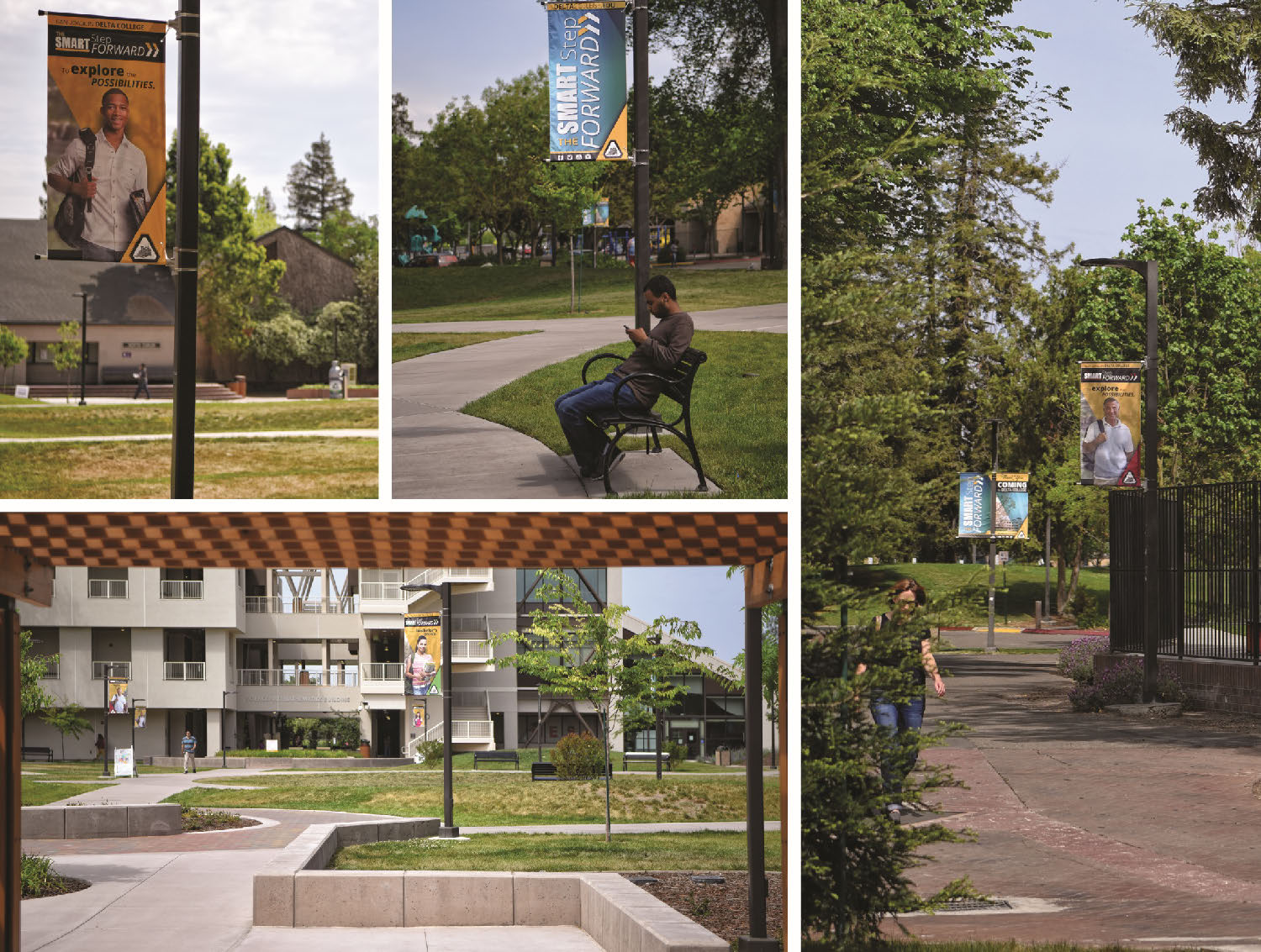 Campus pole banners