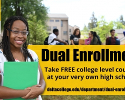 Dual enrollment courses are available