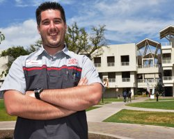 Shane Gallagher of San Joaquin Delta College took top honors at the state SkillsUSA competition this year.
