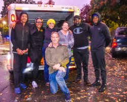 San Joaquin Delta College nursing professor Nicole Porter, second from left, collected donated items from the Delta College community which she then took to Butte County for fire victims over the Thanksgiving break.