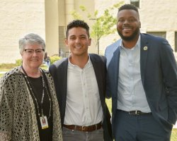 San Joaquin Delta College President Kathy Hart, Reinvent Stockton Executive Director Lange Lungtao, and Stockton Mayor Michael Tubbs signed an agreement Monday that will benefit hundreds of Delta students each year.