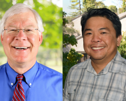 Bob Rennicks and Gerry Hinayon were recently named distinguished faculty by San Joaquin Delta College
