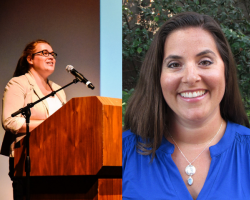 """Tara Cuslidge-Staiano and Becky Plaza have been named """"oustanding new faculty"""" for 2017-18"""