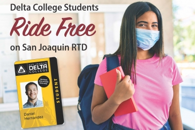RTD partners with Delta College to offer free bus passes to students