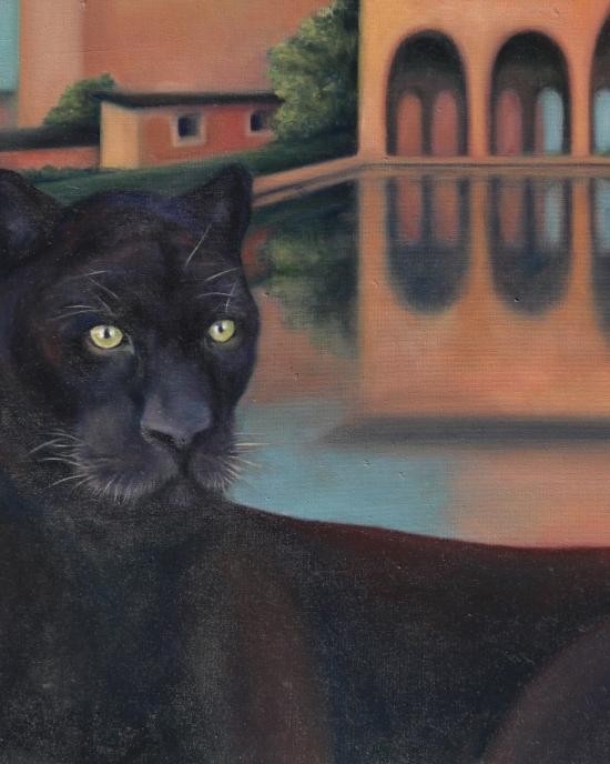 Bonny Barker - Painting - Cat