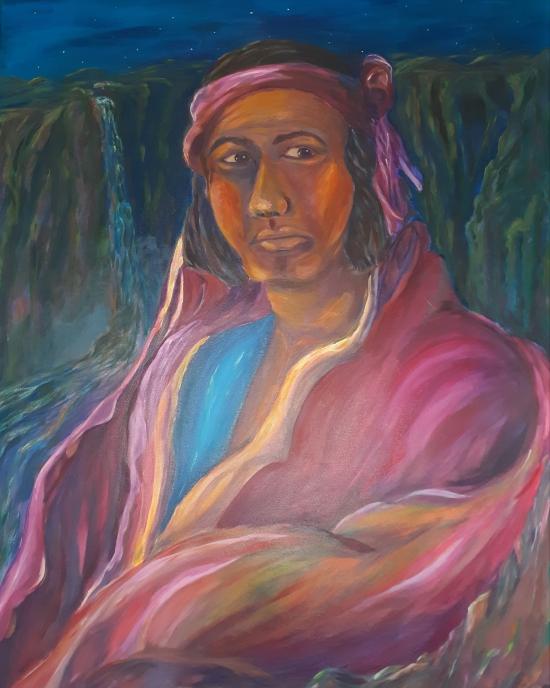 Maria Campos - Painting - Portrait