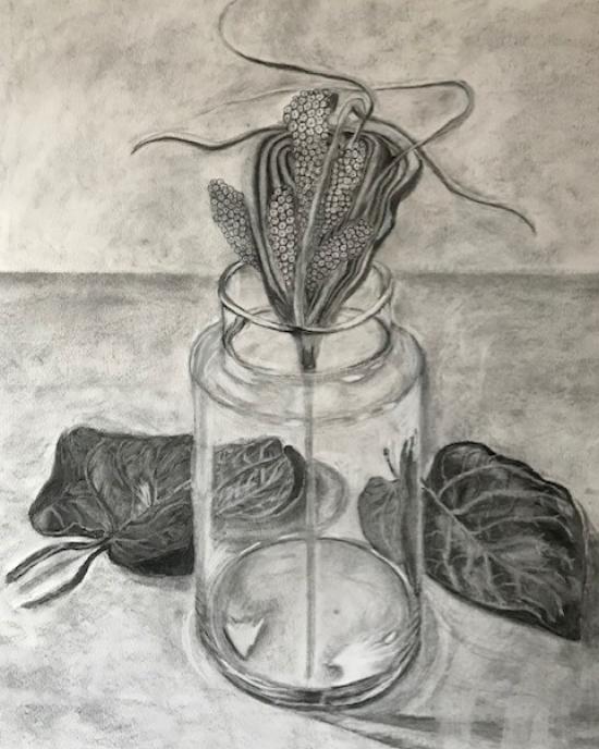 Celia Cardoza - Drawing - Vase