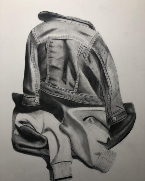 Natalia Diaz - Drawing - Clothing