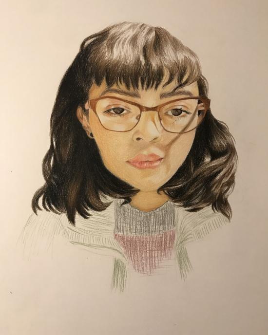 Ruth Nunez Santillan - Drawing - Self