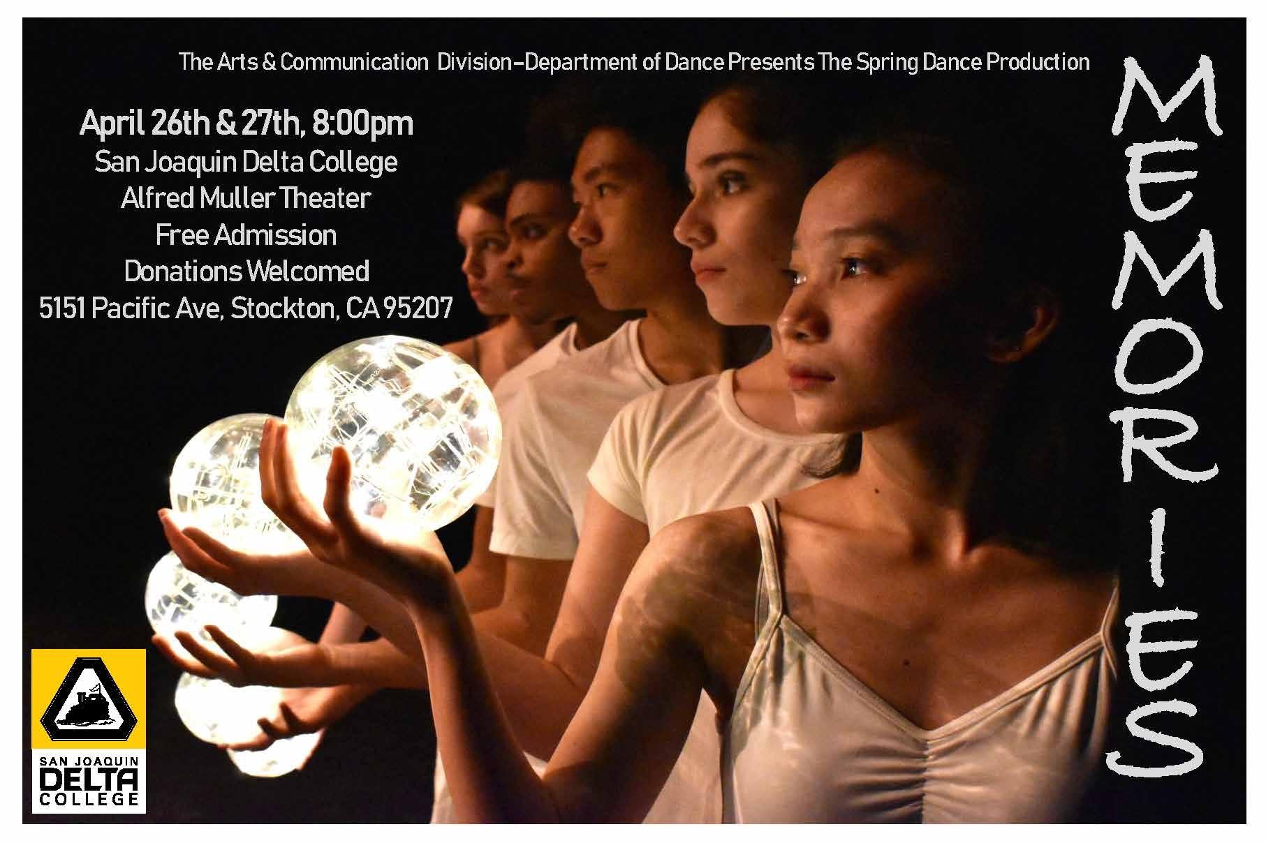 "San Joaquin Delta College dance students present ""Memories"""