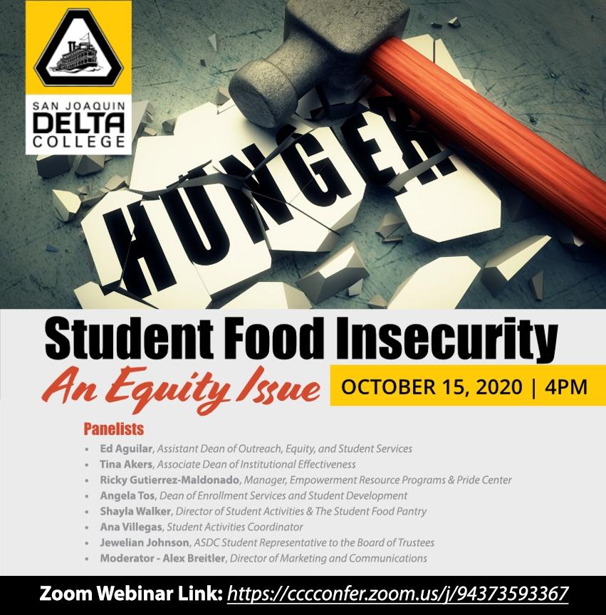 Student Food Pantry webinar on Oct. 15