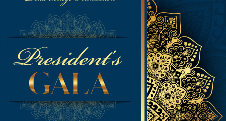 The President's Gala is scheduled for 5:30 p.m. on the evening of Thursday, March 26.
