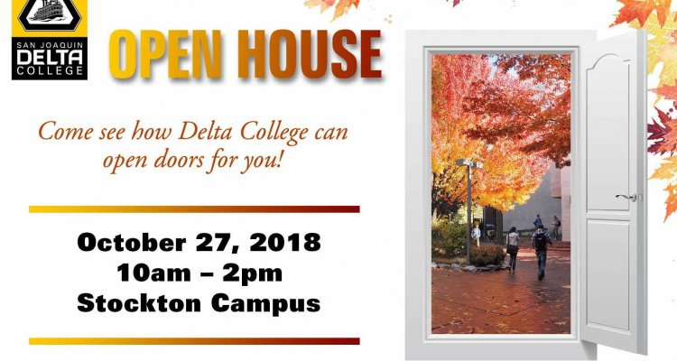 San Joaquin Delta College will host a campuswide open house on Oct. 27.