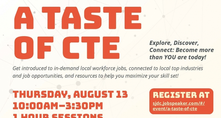 """""""A Taste of CTE"""" is scheduled for Aug. 13."""