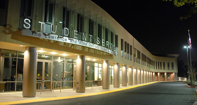 The DeRicco Student Services Building at San Joaquin Delta College was funded by the College's Measure L bond, approved by taxpayers in 2004.