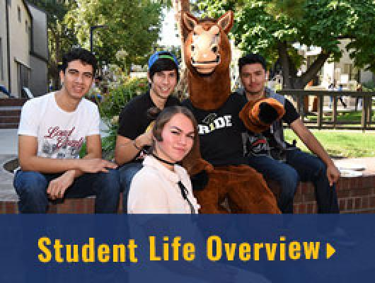 Delta students hang out on campus