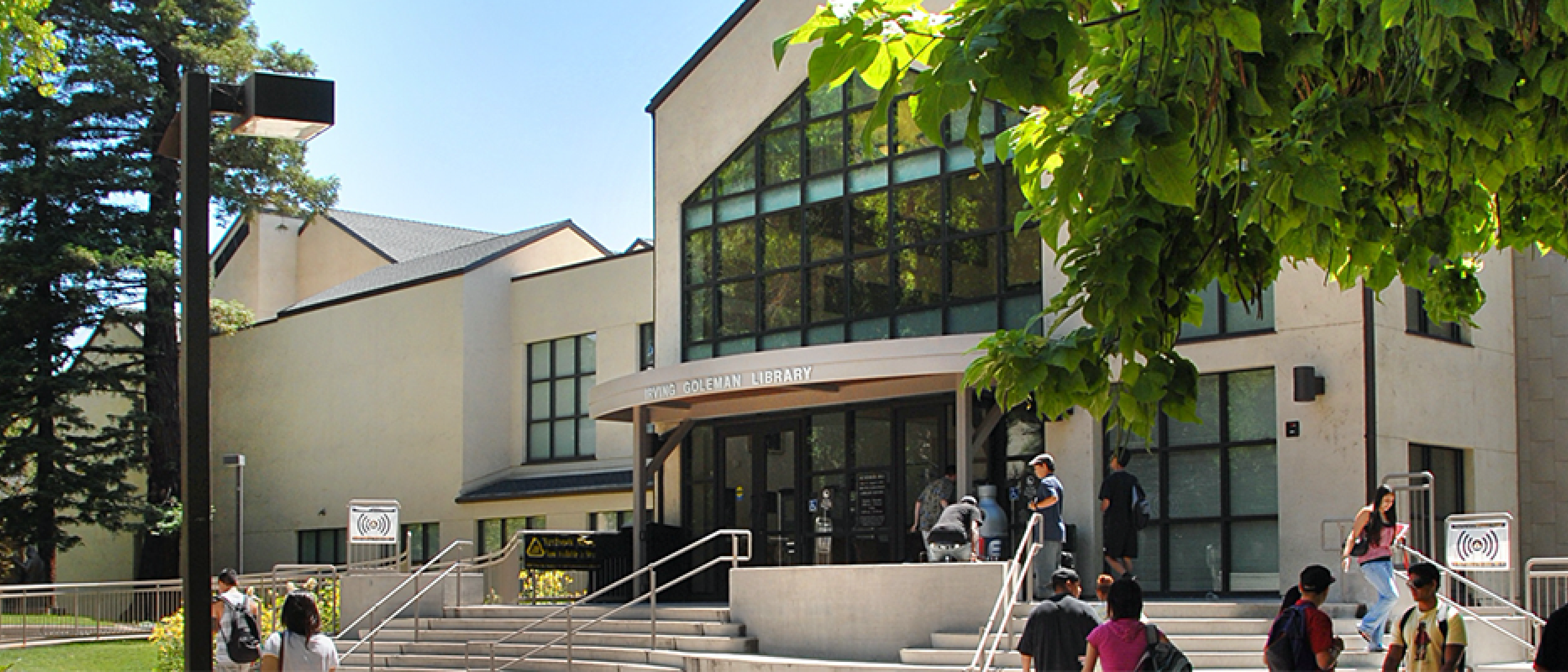 Library Front Entrance