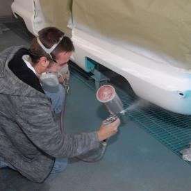 Students work in auto program