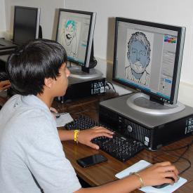 graphics arts classroom