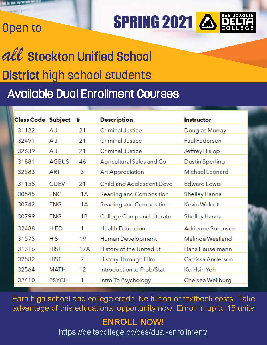 Dual enrollment courses avaiable at SUSD schools